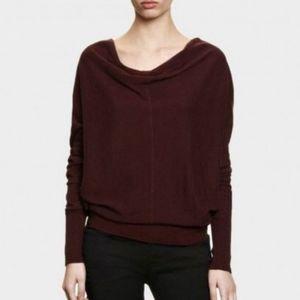 All Saints Elgar Cowl Neck Purple Sweater